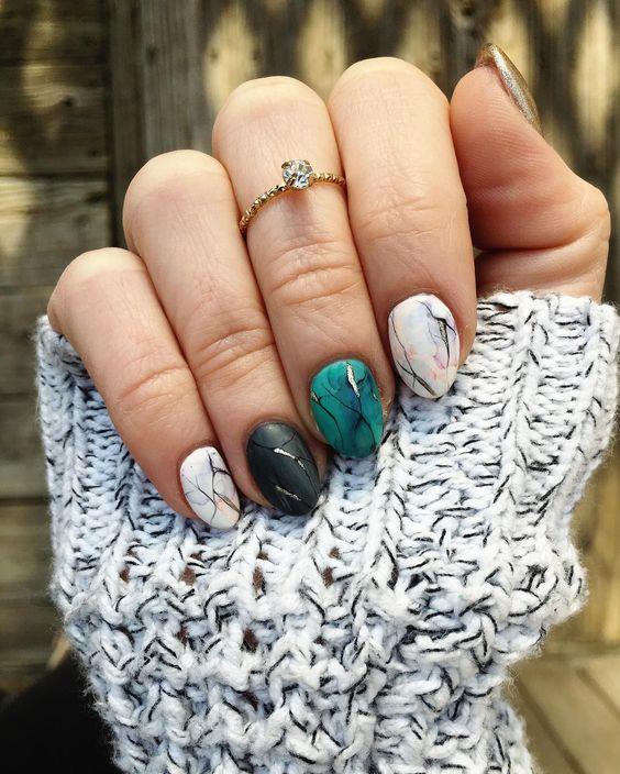 Дизайн ногтей 2018 фото новинки зима