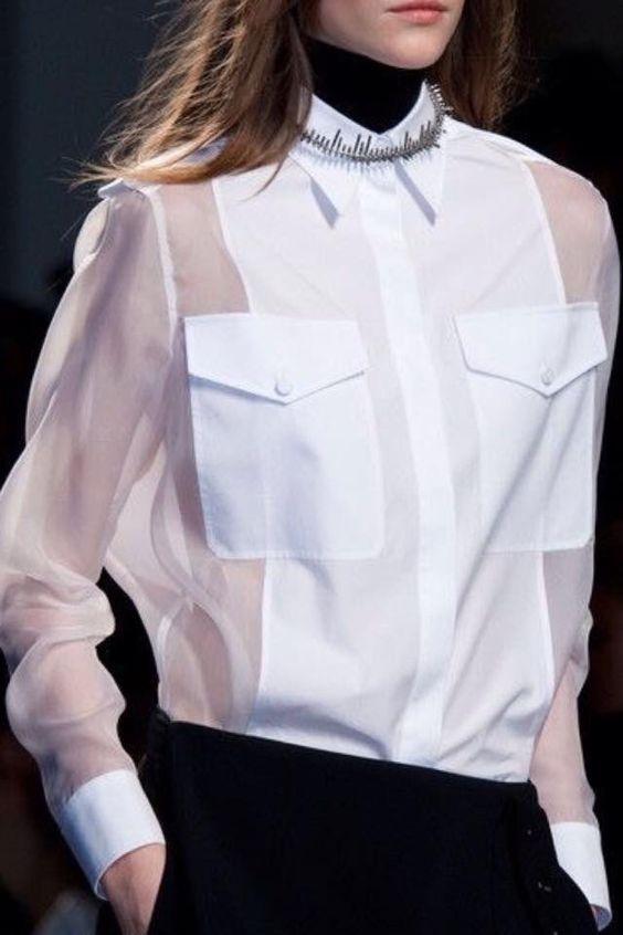 Белые блузки 2018-2019 (11)