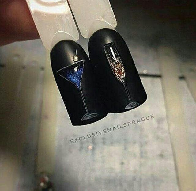 Ногти дизайн новинки Новый год 2019 (34)