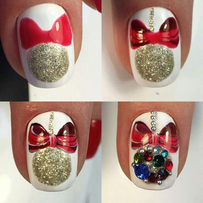 Дизайн ногтей на Новый год 2019 (62)