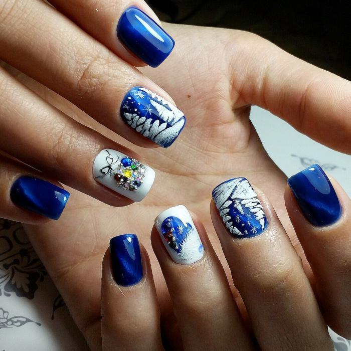 Дизайн ногтей на Новый год 2019 (57)
