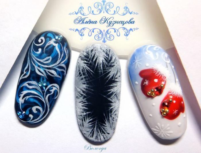 Дизайн ногтей на Новый год 2019 (53)