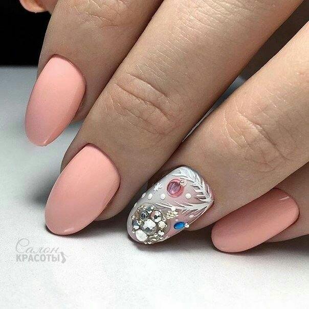 Дизайн ногтей на Новый год 2019 (59)