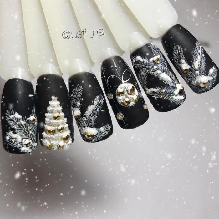 Дизайн ногтей на Новый год 2019 (74)