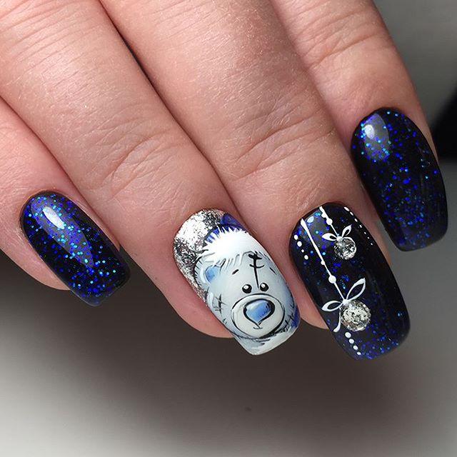 Дизайн ногтей на Новый год 2019 (73)