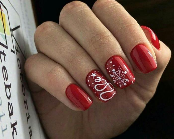 Ногти гель-лак дизайн Новый год 2019 (60)