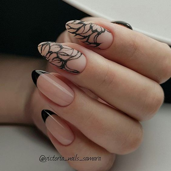 Красивый зимний дизайн ногтей 2019 (31)