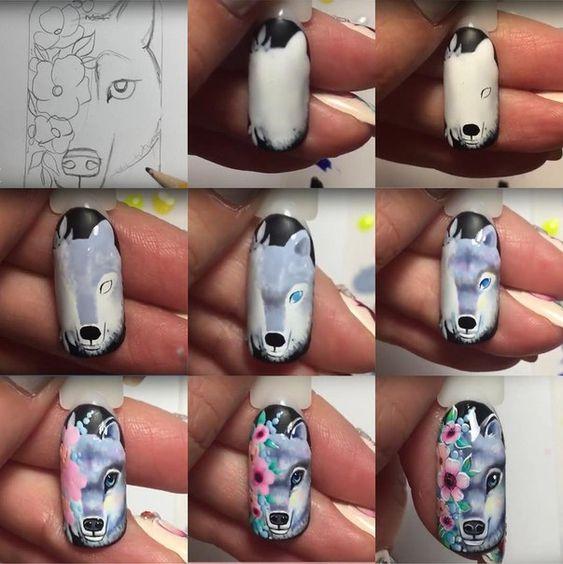 Красивый зимний дизайн ногтей 2019 (56)