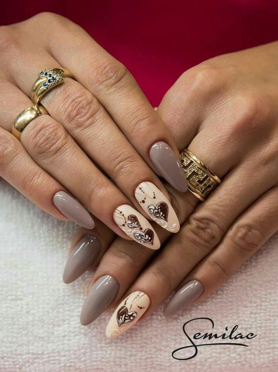 Красивый зимний дизайн ногтей 2019 (28)