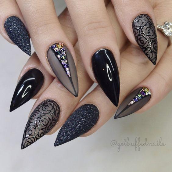 Красивый зимний дизайн ногтей 2019 (52)