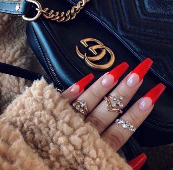 Красивый зимний дизайн ногтей 2019 (47)