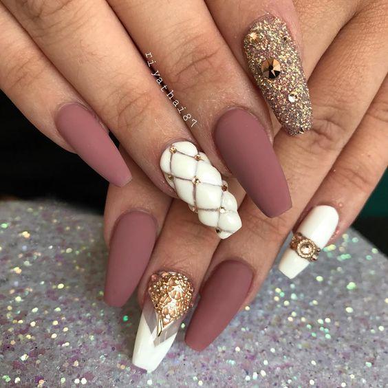 Дизайн ногтей на Новый год 2019 (2)