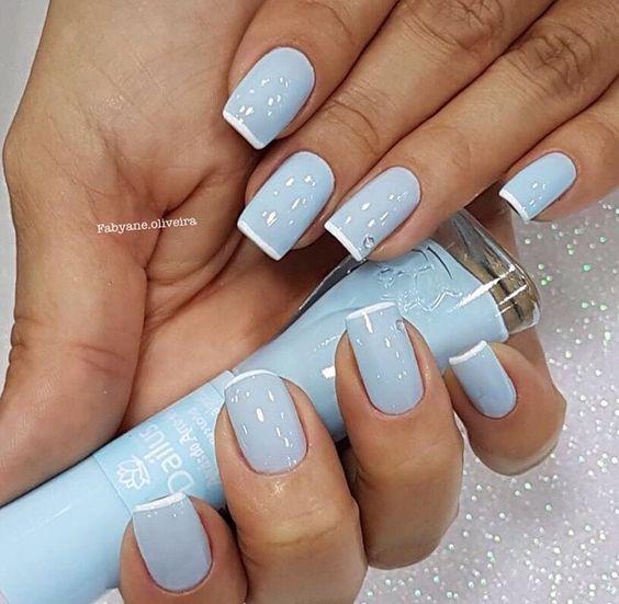 Красивый зимний дизайн ногтей 2019 (45)