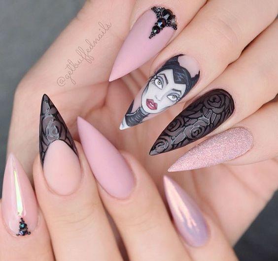 Красивый зимний дизайн ногтей 2019 (23)
