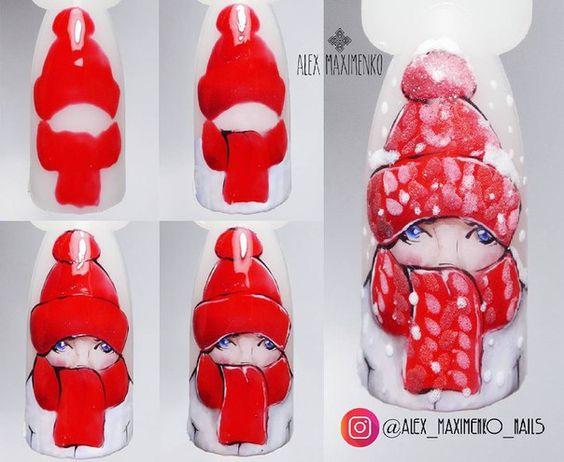 Дизайн ногтей на Новый год 2019 (24)