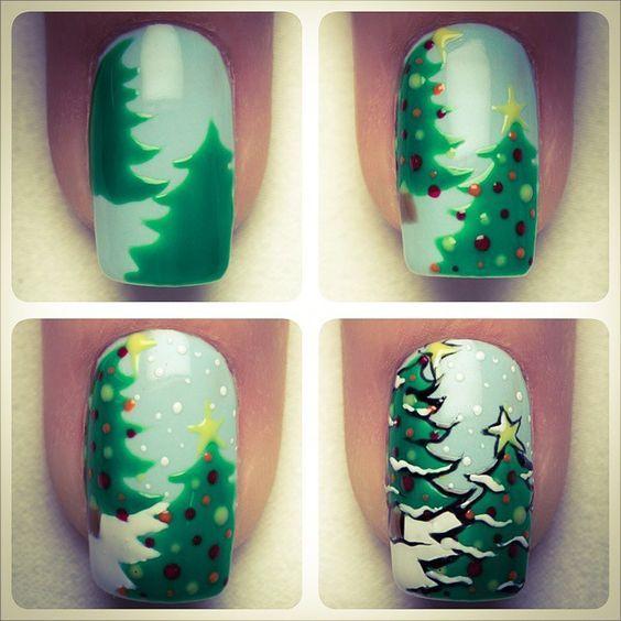 Красивый зимний дизайн ногтей 2019 (17)