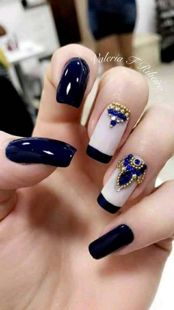 Дизайн ногтей зима 2019 фото новинки (44)