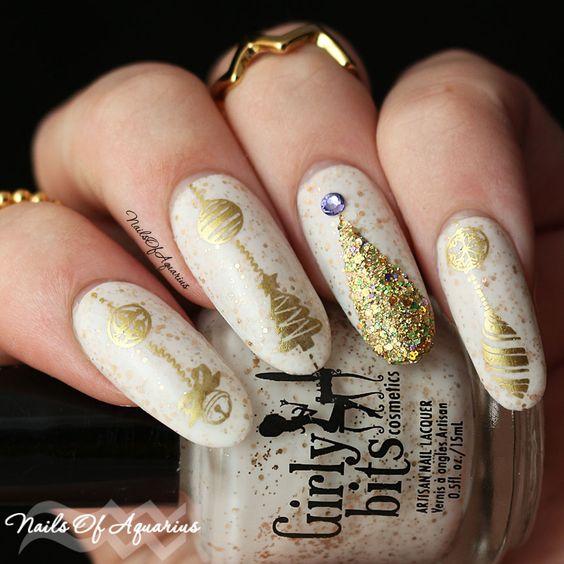 Красивый зимний дизайн ногтей 2019 (11)
