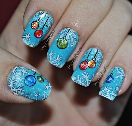 Красивый зимний дизайн ногтей 2019 (15)