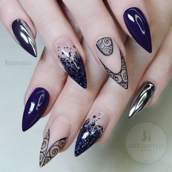 Дизайн ногтей зима 2019 фото новинки (23)