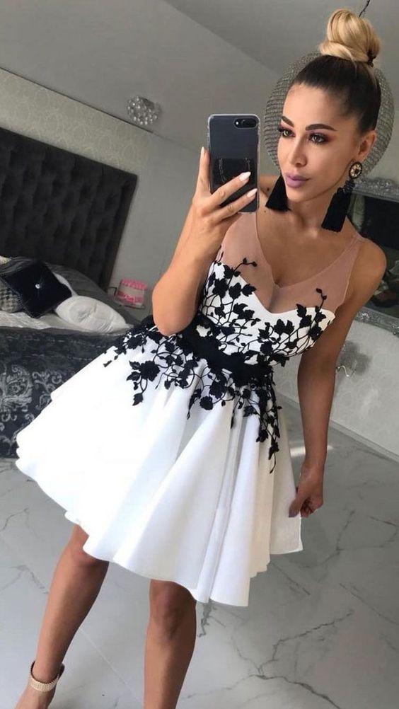 Короткие новогодние платья 2019 (32)