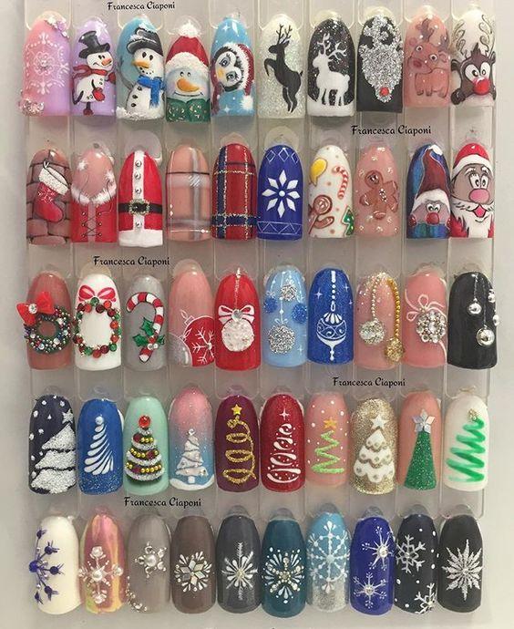 Дизайн ногтей на Новый год 2019 (26)