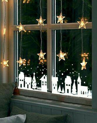 Вырезалки на окна к Новому 2019 году (14)