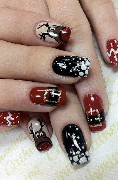 Дизайн ногтей на Новый год 2019 (25)