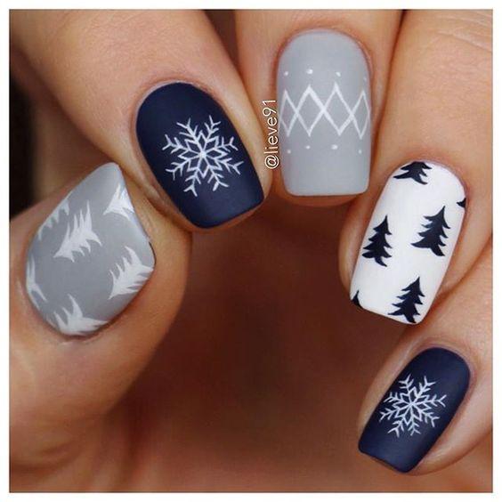 Дизайн ногтей зима 2019 фото новинки (78)
