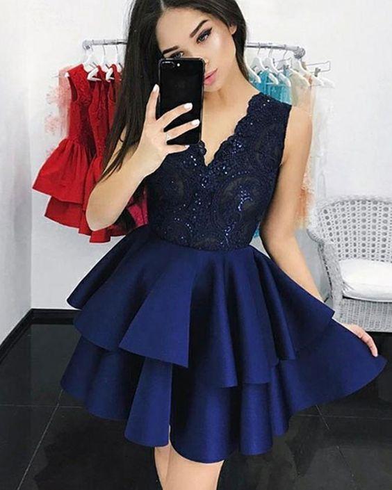 Короткие новогодние платья 2019 (19)