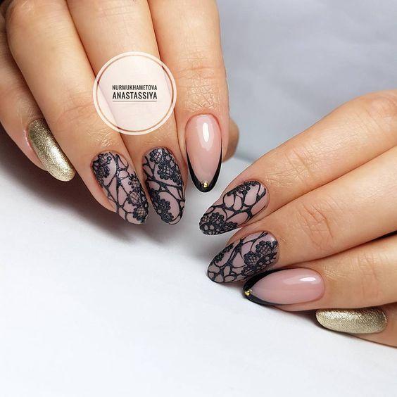 Фото новинки красивый дизайн ногтей 2019 (23)
