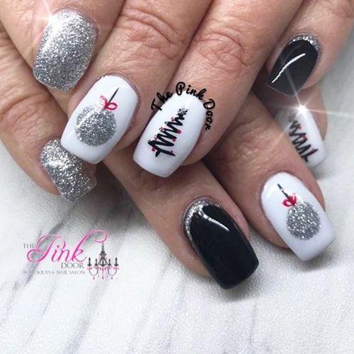 Красивый зимний дизайн ногтей 2019 (5)