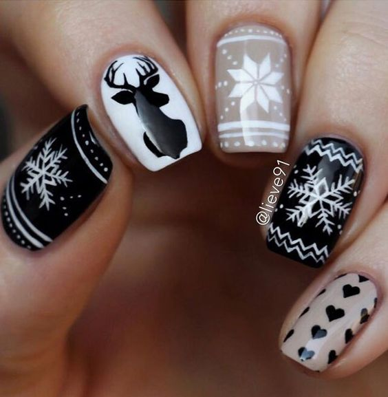 Дизайн ногтей зима 2019 фото новинки (68)