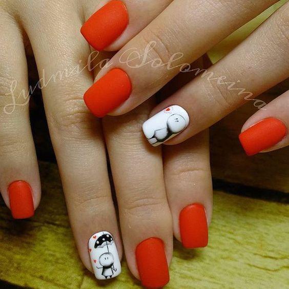 Дизайн ногтей на Новый год 2019 (16)