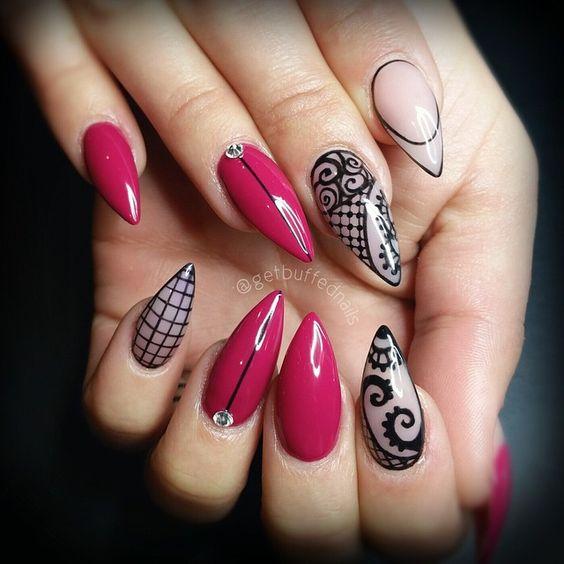 Дизайн ногтей на Новый год 2019 (15)