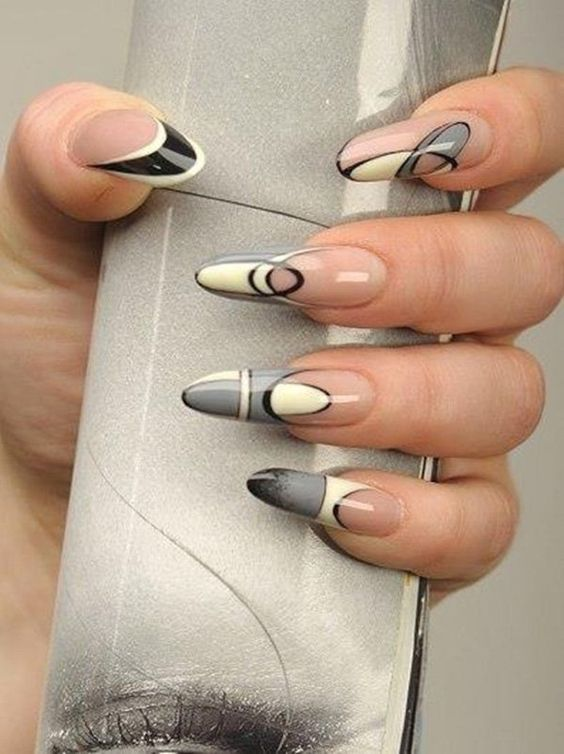 Ногти гель-лак дизайн Новый год 2019 (1)
