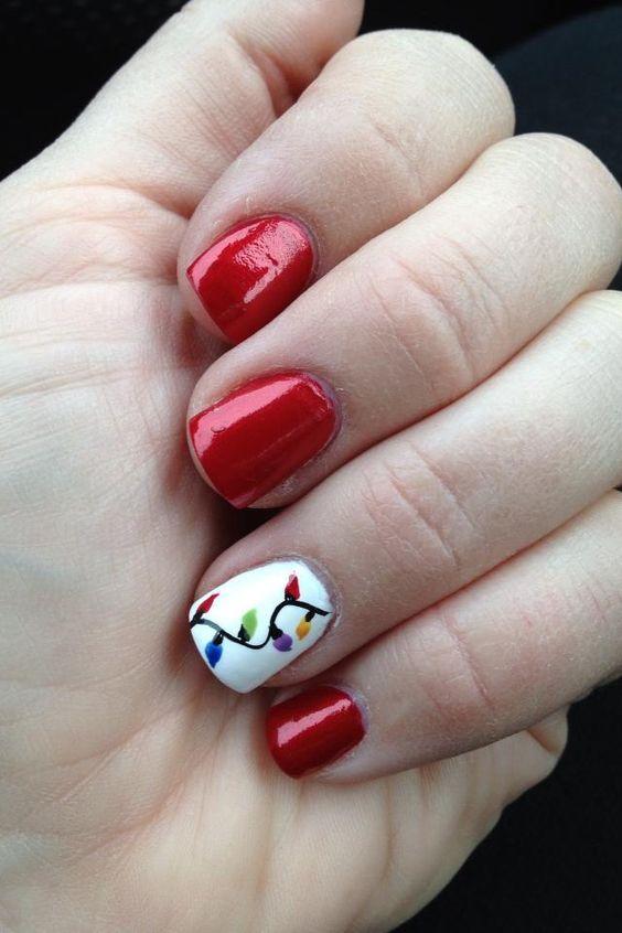 Гирлянда на ногтях (18)