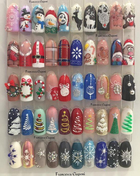 Снеговик на ногтях (24)