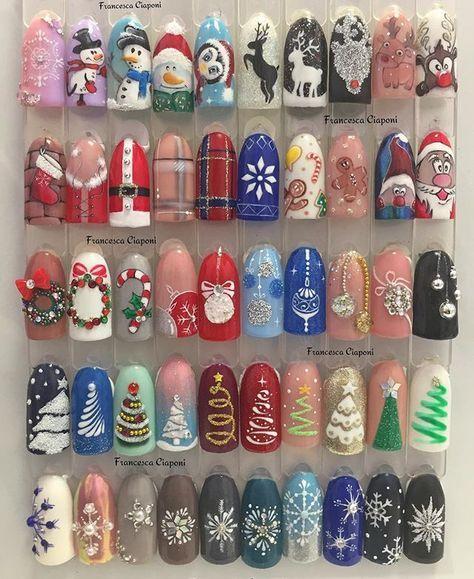 Снеговик на ногтях (29)