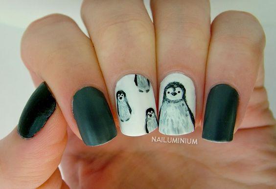 Маникюр с пингвинами (7)