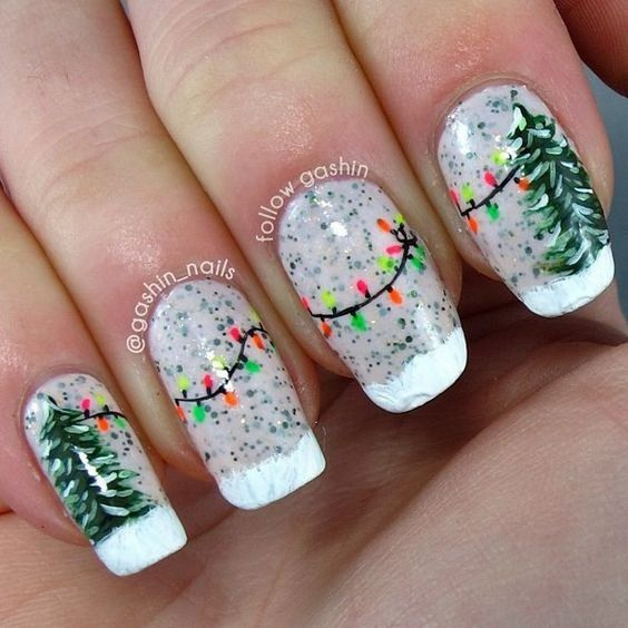 Гирлянда на ногтях (7)