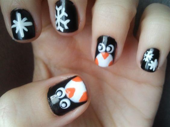 Маникюр с пингвинами (16)