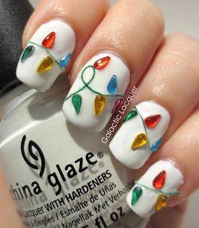 Гирлянда на ногтях (9)