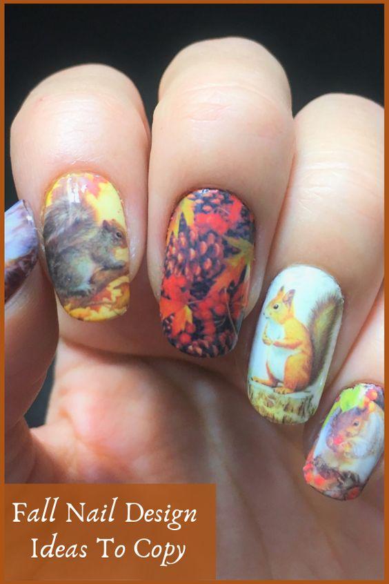 Белка на ногтях (15)