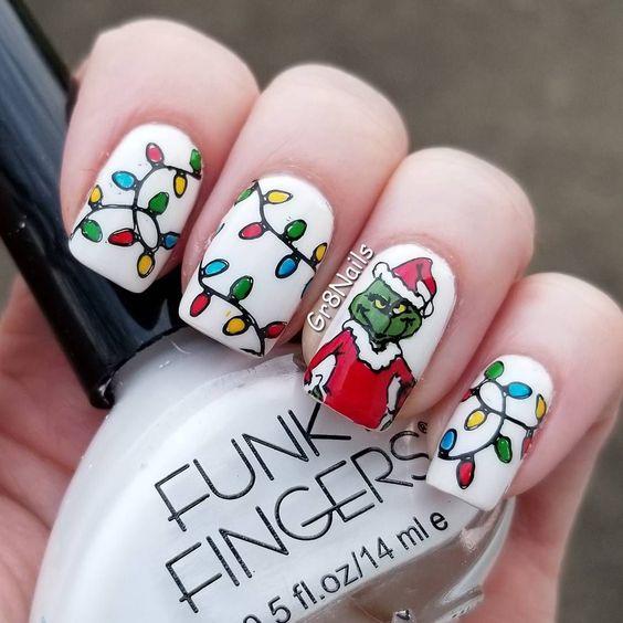 Гирлянда на ногтях (10)