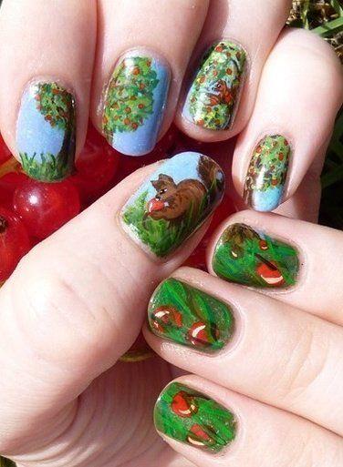 Белка на ногтях (12)
