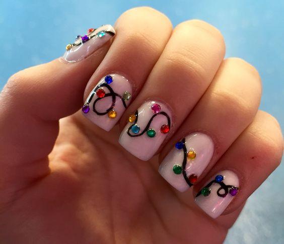 Гирлянда на ногтях (6)