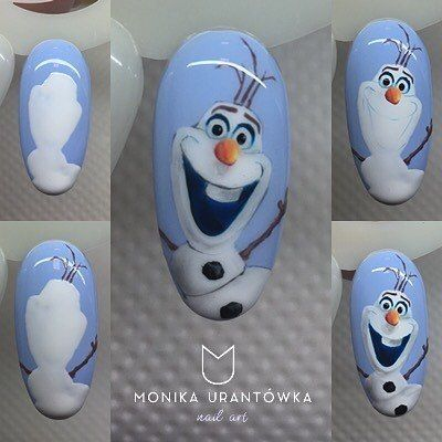 Снеговик на ногтях (18)