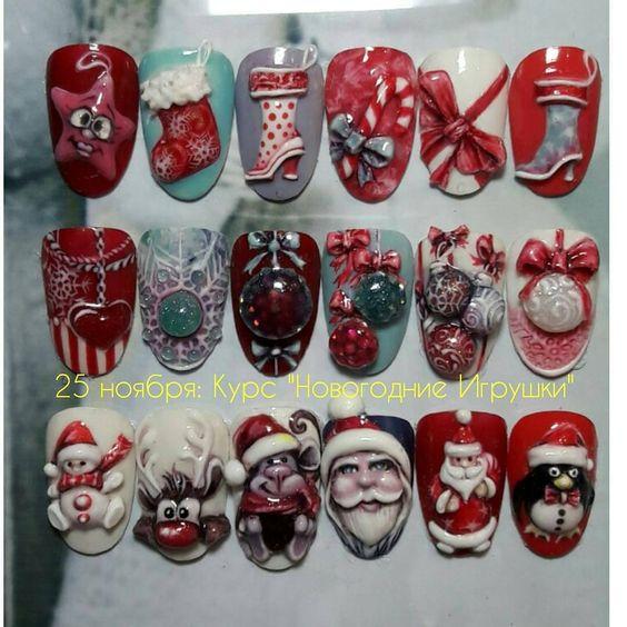 Снеговик на ногтях (17)