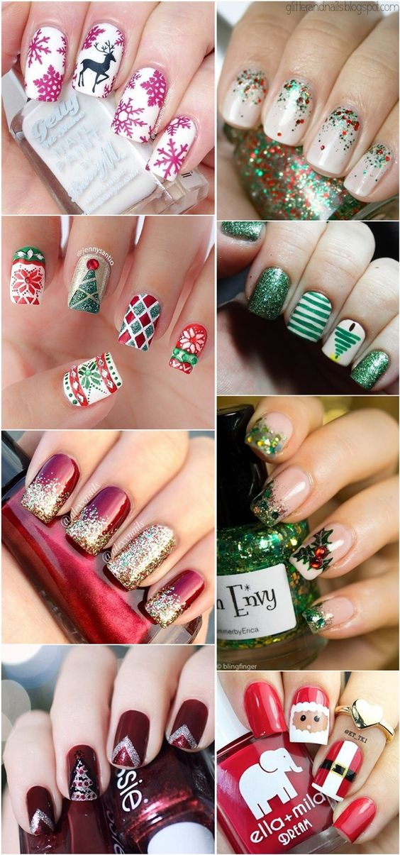 Снеговик на ногтях (16)